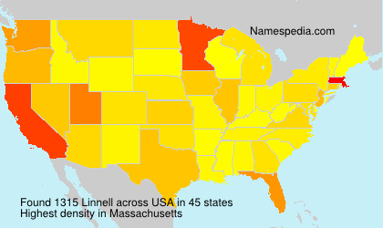 Surname Linnell in USA