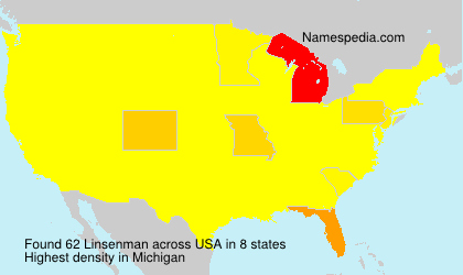 Surname Linsenman in USA