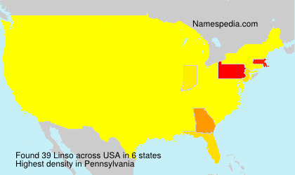 Surname Linso in USA