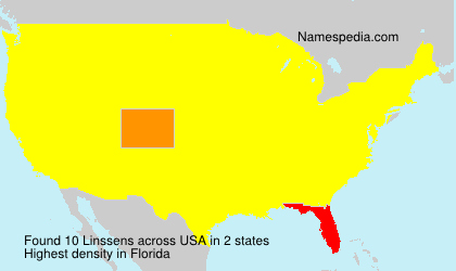 Surname Linssens in USA