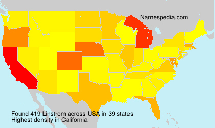 Surname Linstrom in USA
