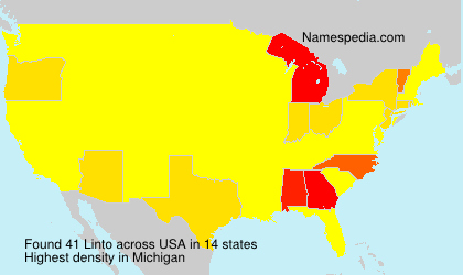 Surname Linto in USA