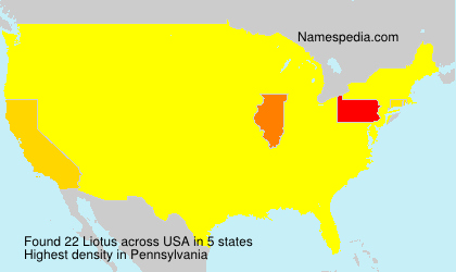 Surname Liotus in USA