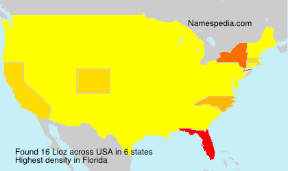 Surname Lioz in USA