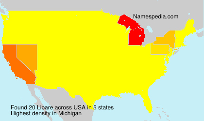 Surname Lipare in USA
