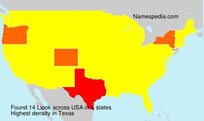 Surname Lipok in USA