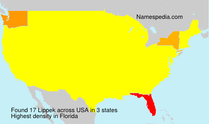 Surname Lippek in USA