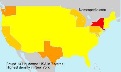 Surname Liqi in USA