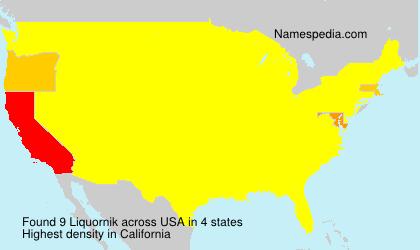 Surname Liquornik in USA
