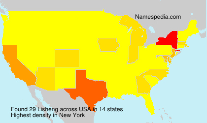 Surname Lisheng in USA