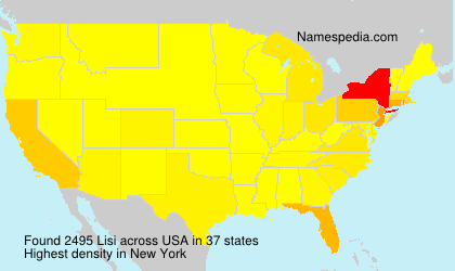 Surname Lisi in USA