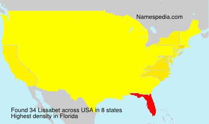 Surname Lissabet in USA