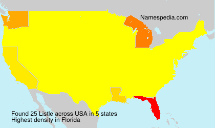 Surname Listle in USA