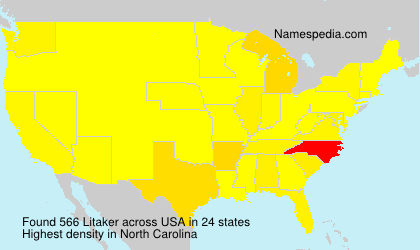 Surname Litaker in USA
