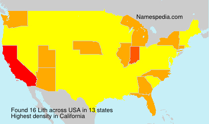 Surname Lith in USA