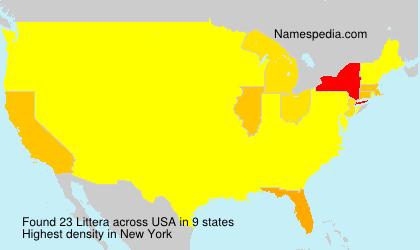 Familiennamen Littera - USA