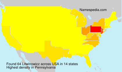 Surname Litwinowicz in USA