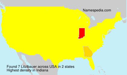 Familiennamen Litzlbauer - USA