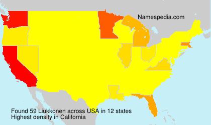 Familiennamen Liukkonen - USA