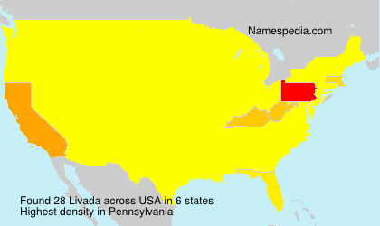 Surname Livada in USA