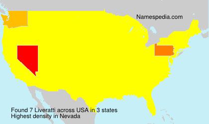 Surname Liveratti in USA