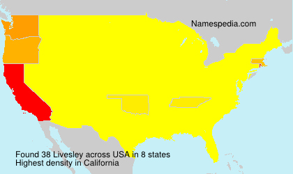 Surname Livesley in USA