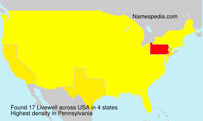 Familiennamen Livewell - USA