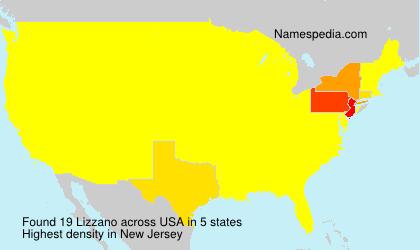 Familiennamen Lizzano - USA