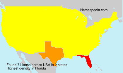Surname Llansa in USA