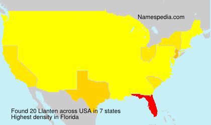 Surname Llanten in USA