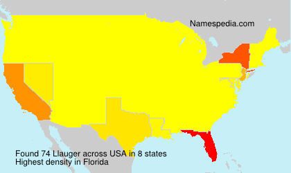 Surname Llauger in USA