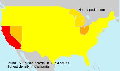 Familiennamen Llausas - USA