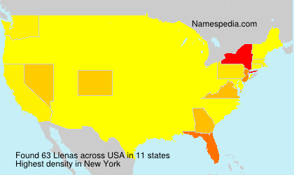 Surname Llenas in USA