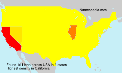 Surname Lleno in USA