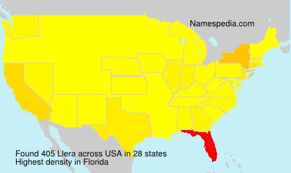 Familiennamen Llera - USA