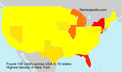 Surname Lleshi in USA