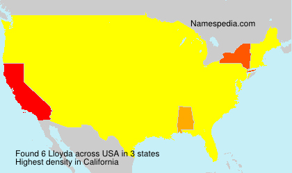 Surname Lloyda in USA
