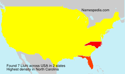Surname Lluhi in USA