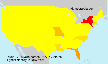 Surname Lluvera in USA