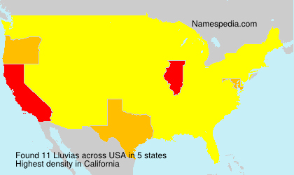 Surname Lluvias in USA
