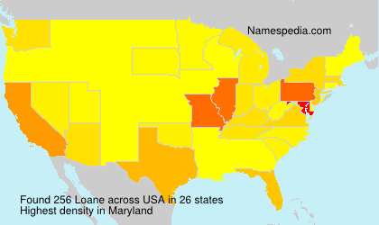 Surname Loane in USA