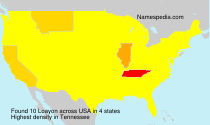 Surname Loayon in USA