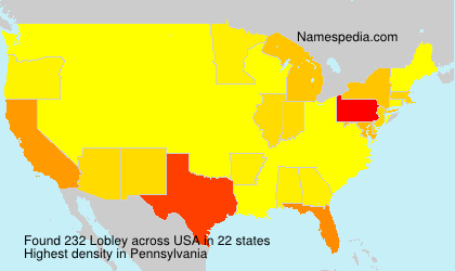 Surname Lobley in USA