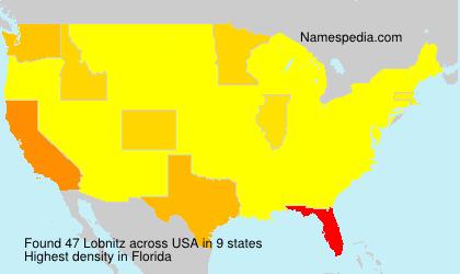 Familiennamen Lobnitz - USA