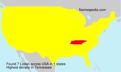 Familiennamen Lodari - USA