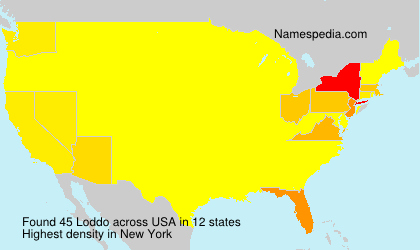 Surname Loddo in USA