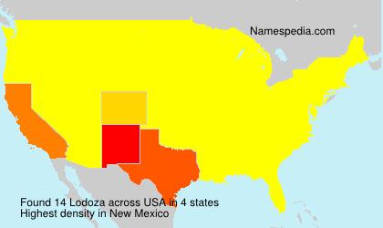 Surname Lodoza in USA