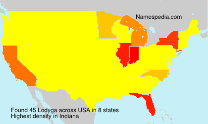 Surname Lodyga in USA