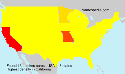 Surname Loelkes in USA