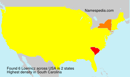 Surname Loerincz in USA